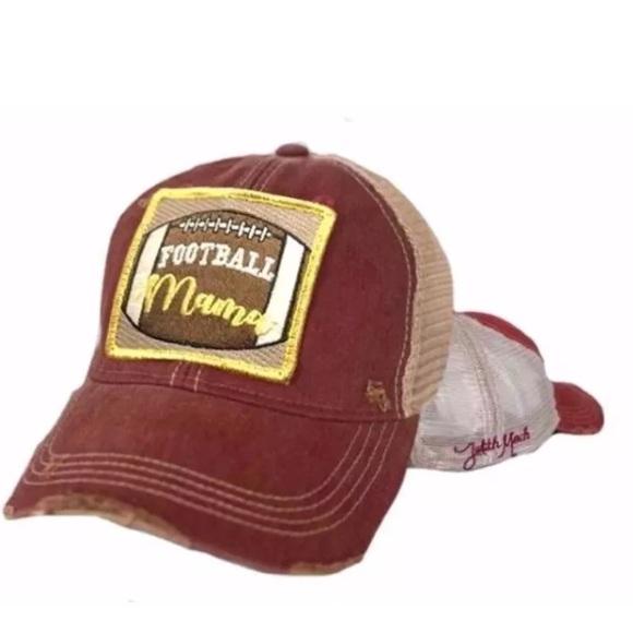 37aedf073f7 Judith March Football 🏈 Mama HAT Trucker Red